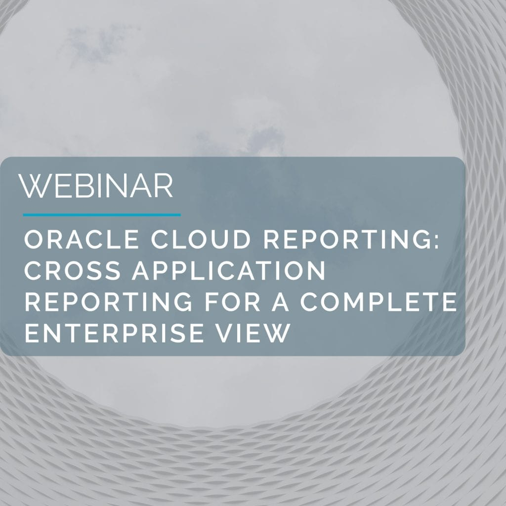 Oracle Cloud Reporting - Cross Application Reporting For A Complete Enterprise View 5