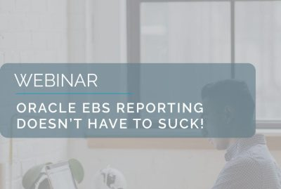 Oracle EBS Reporting doesn't have to suck! 6