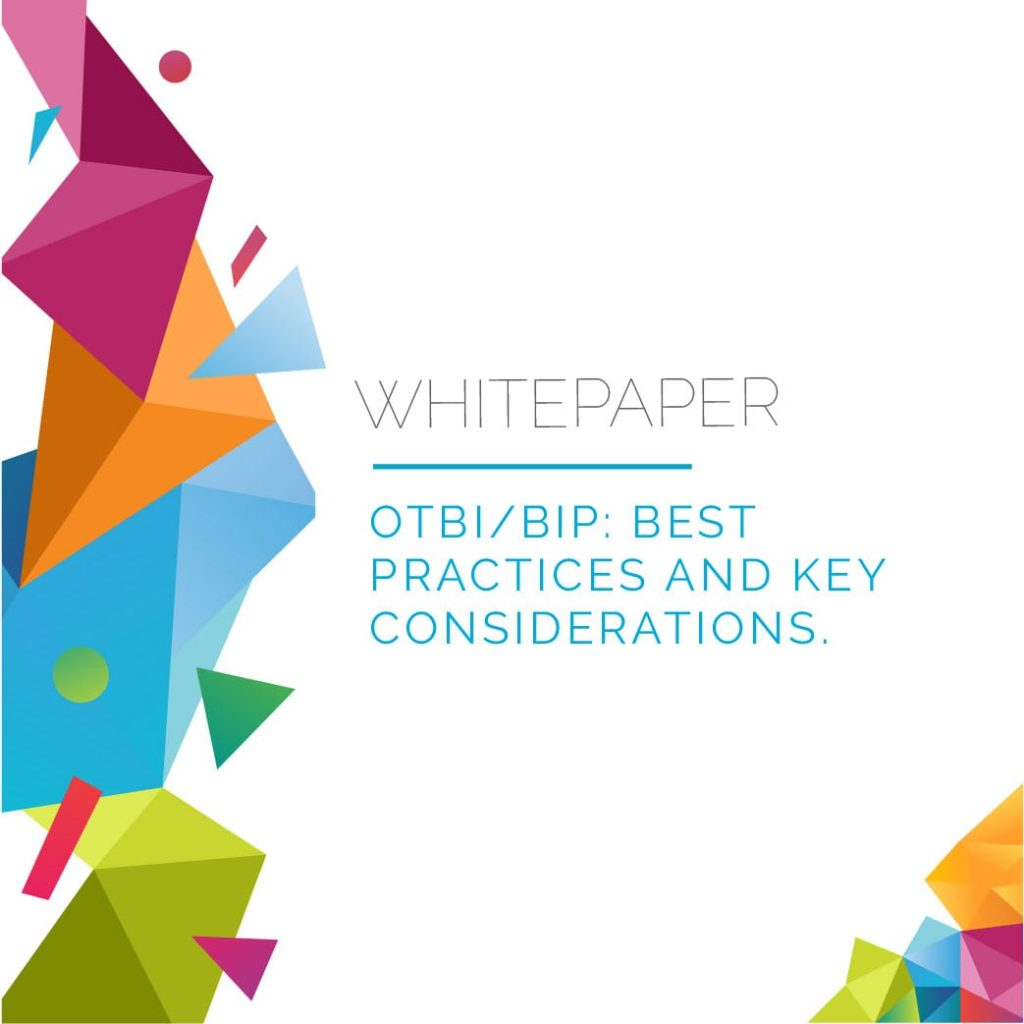 OTBI-BIP: Best Practices and Key Considerations 1