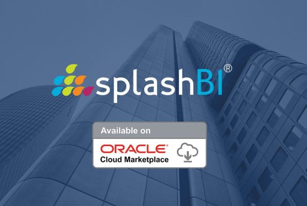 SplashBI Products Available in Oracle Cloud Marketplace! 1